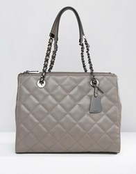 Aldo Quilted Shoulder Bag In Charcoal Charcoal Grey