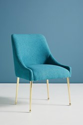 Anthropologie Performance Wool Elowen Dining Chair Turquoise