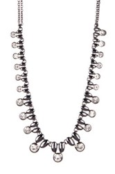 Stephan And Co Small Stone Statement Necklace Black