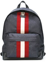 Bally Striped Backpack Grey