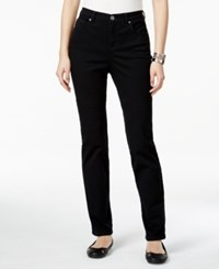 Styleandco. Style Co. Petite Tummy Control Straight Leg Jeans Only At Macy's Black