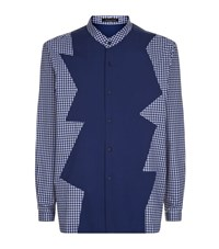 Christopher Kane Patchwork Shirt Male Blue