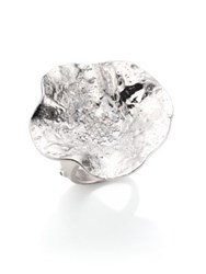 Coomi Silver Serenity Diamond And Sterling Silver Flower Ring Silver Multi