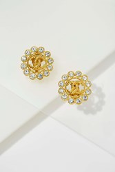 Nasty Gal Vintage Chanel Rhinestone Earrings