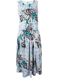 Zucca Printed Flared Dress Grey