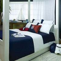 Tommy Hilfiger Navy Colour Block Duvet Cover Super King