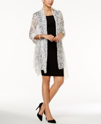 Inc International Concepts Scribble Heart Evening Wrap Only At Macy's White