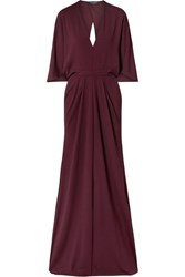 Narciso Rodriguez Stretch Crepe Gown Burgundy