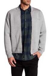 Bench Extinguish Knit Bomber Sweater Gray