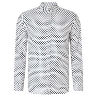 John Lewis Long Sleeve Star Design Shirt White