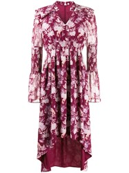 Three Floor Felicity Floral Print Dress Purple