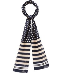 Cc Spot And Stripe Satin Scarf