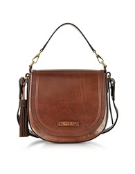 The Bridge Large Leather Messenger Bag W Tassels Brown