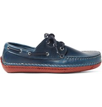 Quoddy Moc Ii Leather Boat Shoes Blue