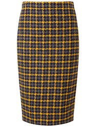 Pure Collection Campbell Pencil Skirt Oversized Yellow Check