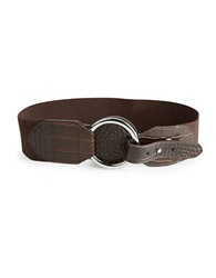 Lauren Ralph Lauren Faux Leather Stretch Belt Brown