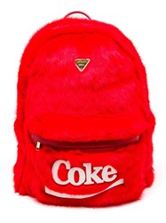 Joyrich X Coke Faux Fur Backpack