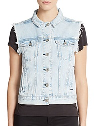 Rag And Bone Denim Vest Bleach Out