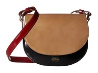 Frances Valentine Ellen Mini Shoulder Satchel Taupe Black White Red Satchel Handbags Brown