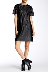 Gracia Pleather Pocket Dress Black