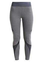 Casall Brilliant Tights Dark Grey Melange Mottled Grey