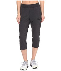 Puma Elevated 3 4 Sweatpants Dark Gray Heather Women's Workout