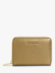 Coccinelle Metallic Small Soft Leather Purse Brass