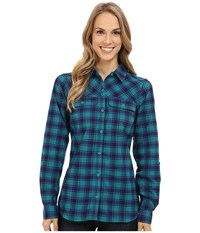 Columbia Saturday Trail Ii Flannel Shirt Emerald Women's Long Sleeve Button Up Green
