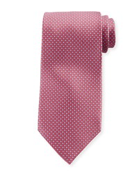 Stefano Ricci Men's Small Cross Print Silk Tie Pink Blue