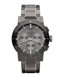 Burberry Men's 42Mm Stainless Steel And Ceramic City Bracelet Watch Black