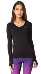 Lucas Hugh Core Technical Knit Long Sleeve Top Black