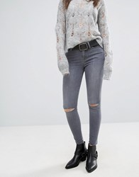 Allsaints Grace Slashed Jeans Gray