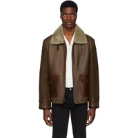Schott Brown Leather Combination Jacket