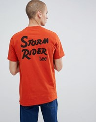 Lee Storm Rider T Shirt Orange Rust Orange