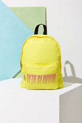 Uo Souvenir Miami Packable Backpack Yellow