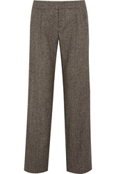 Alice Olivia Hart Herringbone Tweed Straight Leg Pants