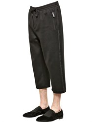 Dolce And Gabbana Tuxedo Style Cotton Jogging Pants