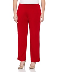 Misook Essential Narrow Leg Knit Pants Red