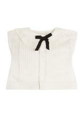 Maison Martin Margiela Maison Margiela Cropped Cotton Blouse White
