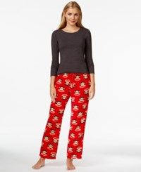 Paul Frank Cute Cozy Pajama Pants Red