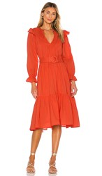 Cleobella Marseilles Midi Dress In Red.