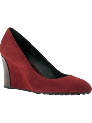 Tod's Wedge Pump Red