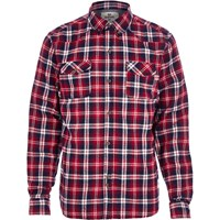 Bellfield River Island Mens Red Check Flannel Shirt