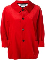Comme Des Garcons Cropped Sleeves Jacket Red