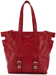 Zadig And Voltaire Bianca Xl Tote Red