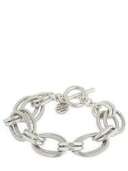 Philippe Audibert Byron Brass Chain Bracelet Silver