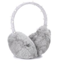 Yves Salomon Meteo Fur Earmuffs Grey