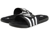 Adidas Adissage Black White Shoes