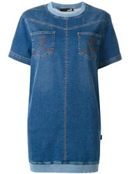 Love Moschino Denim T Shirt Dress Blue