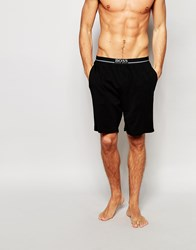 Hugo Boss Regular Fit Lounge Shorts With Contrast Waistband Black
